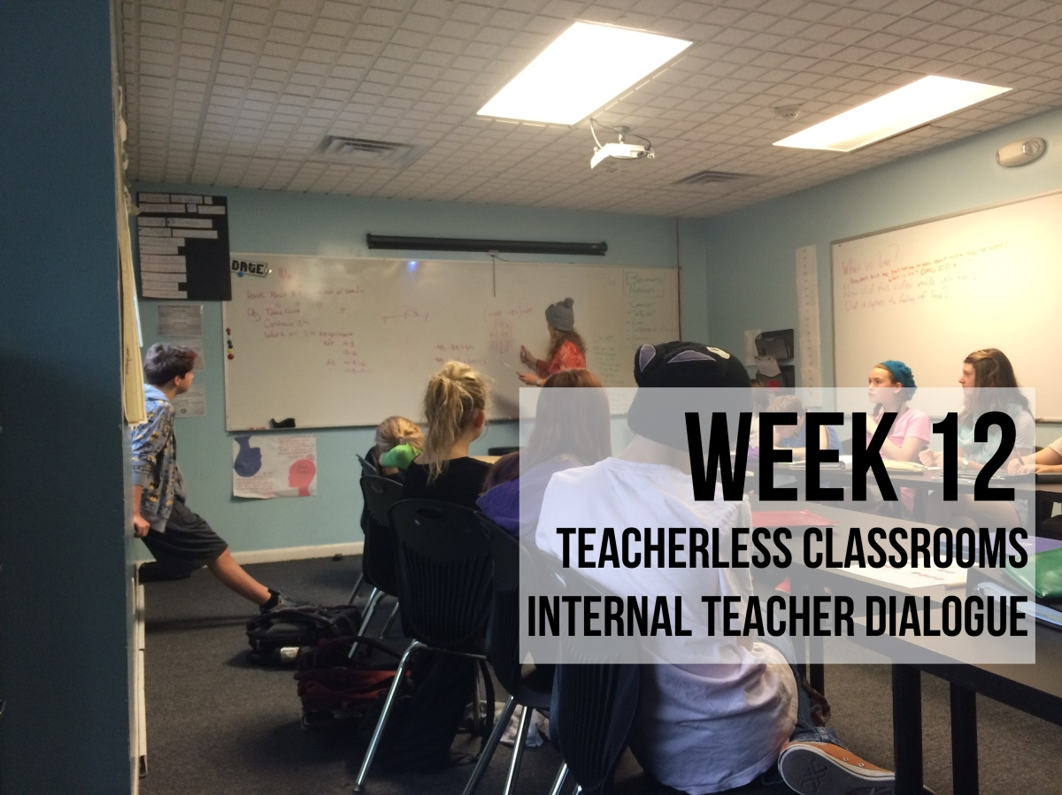 Week 12 - Teacherless Classrooms & Internal Teacher Dialogue