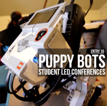 puppy robot student led conference